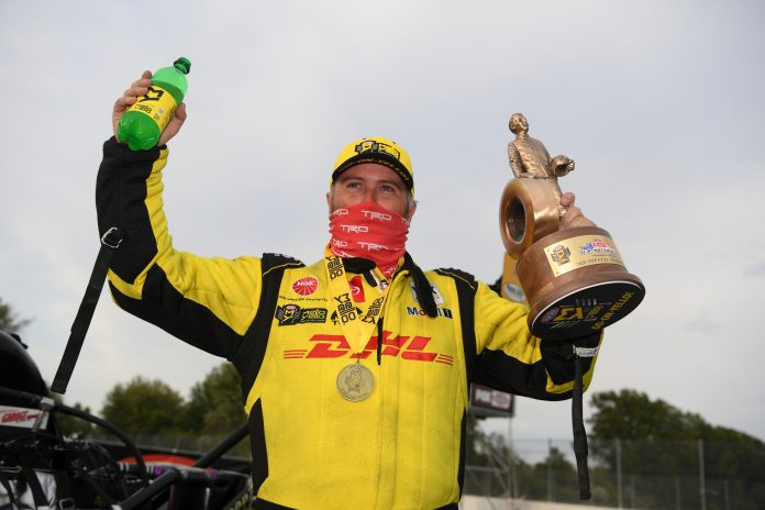 LANGDON ENDS TOP FUEL DROUGHT TO CLAIM SECOND U.S. NATIONALS TROPHY, BEATS PRUETT IN FINAL