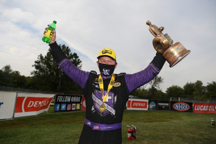 BECKMAN WINS SECOND U.S. NATIONALS IN FINAL HURRAH IN INFINITE HERO FUNNY CAR
