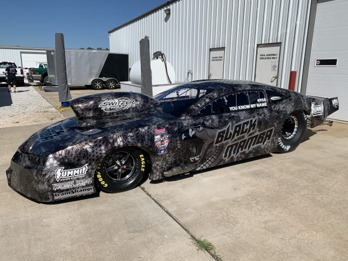 KEITH HANEY'S REPAIRED BLACK MAMBA CAMARO ROLLS OUT OF JERRY BICKEL SHOP