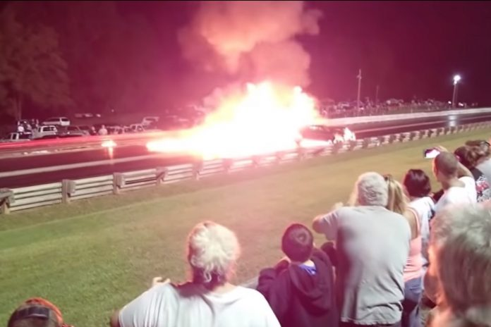 Fiery Crash At JJ Da Boss Arm Drop Event