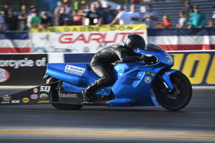 VETERAN PRO STOCK MOTORCYCLE RACER JIMMY UNDERDAHL MAKES U.S. NATIONALS APPEARANCE