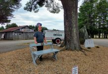 TAFC TEAM OWNER BLAKE CRAFTS BENCH WITH HELP FROM CARROLL CENTER FOR BLIND