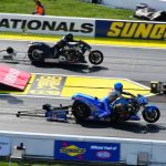 MALLOY ESTABLISHES HIMSELF AS THE QUICKEST NHRA TOP FUEL HARLEY RIDER ABOARD A SEASONED BIKE