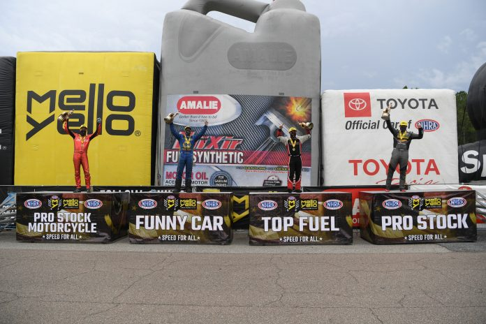 S. TORRENCE, CAPPS, LAUGHLIN AND M. SMITH PICK UP VICTORIES AT NHRA GATORNATIONALS