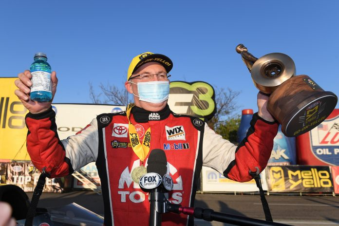 KALITTA TURNS UP TOP FUEL HEAT ON LEADER TORRENCE IN ST. LOUIS COLD
