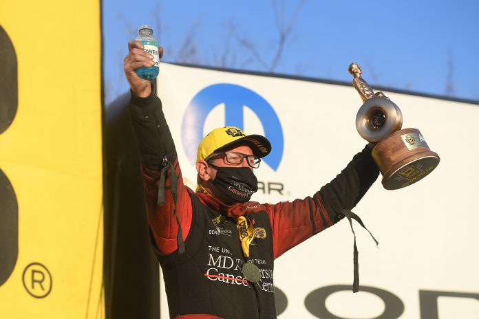 TOMMY JOHNSON JR. GETS CLUTCH FUNNY CAR WIN IN ST. LOUIS