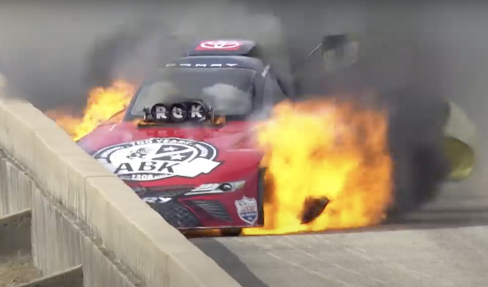 Alexis DeJoria Rides Out Old-School Funny Car Blaze In Dallas
