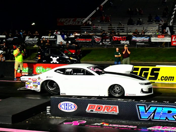 CARR WINS PDRA WORLD FINALS PRO STOCK TITLE BEFORE RAINS HIT