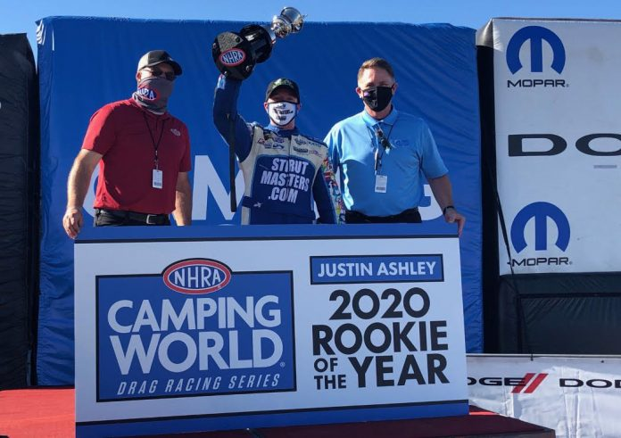 JUSTIN ASHLEY WINS 2020 NHRA ROOKIE OF THE YEAR