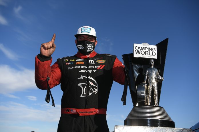 HAGAN WINS NHRA FINALS, EARNS THIRD FUNNY CAR WORLD TITLE