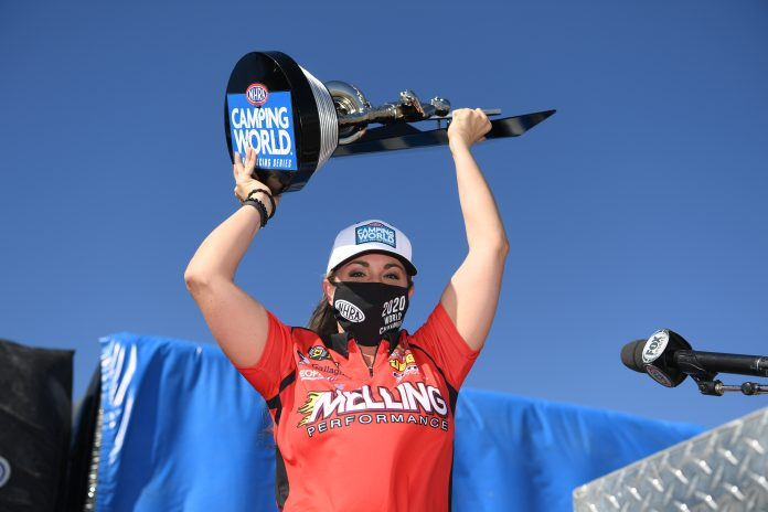 ENDERS SECURES FOURTH PRO STOCK WORLD CHAMPIONSHIP ON WILD DAY IN VEGAS