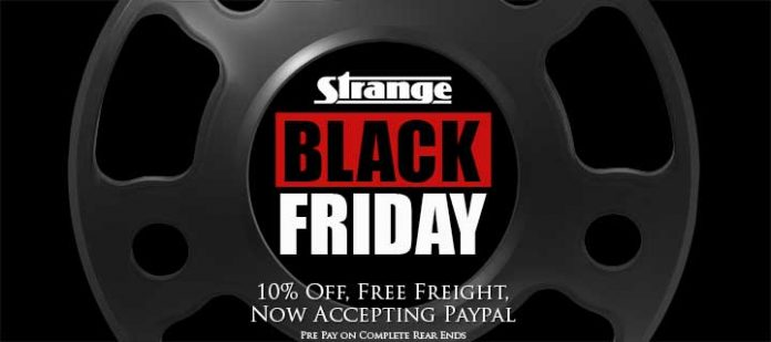 STRANGE ENGINEERING IS OFFERING A BLACK FRIDAY SALE